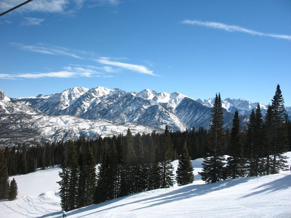 The Rockies as seen from Durango Mountain Resort.