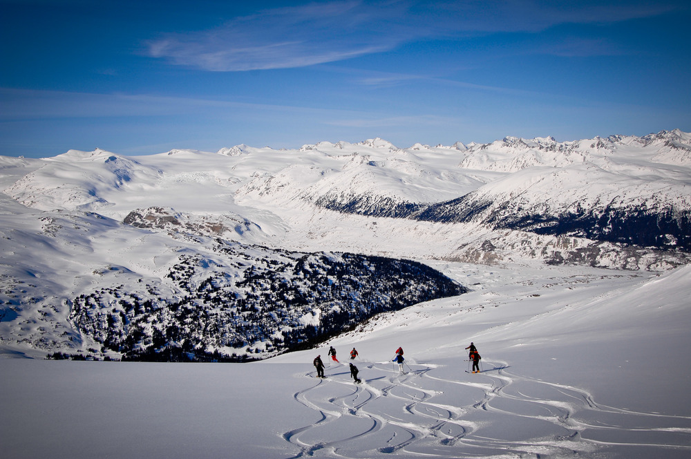 Group turns at Tyax Lodge Heli-Skiing. - ©Randy Lincks/Andrew Doran