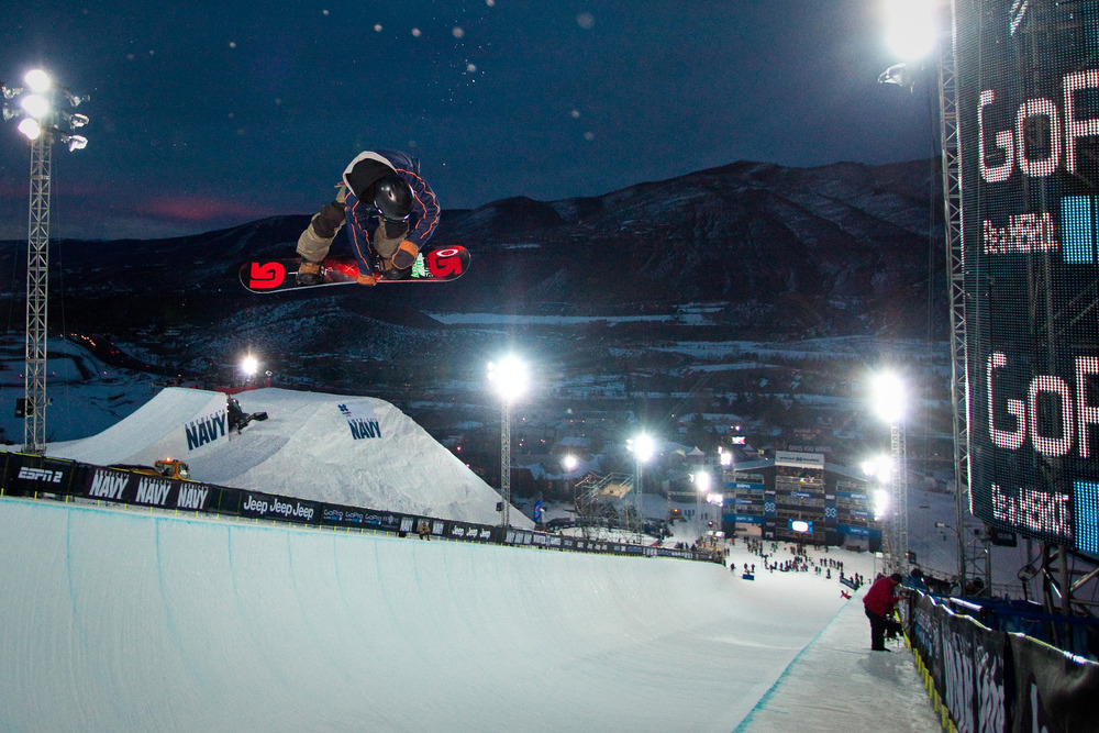 Snowboard Superpipe Practice. - ©Jeremy Swanson