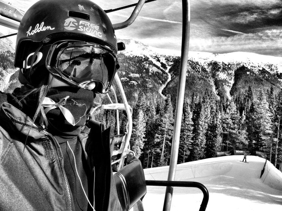 Meg poses for a self portrait during her road to recovery at Copper Mountain this season. - ©Meg Olenick