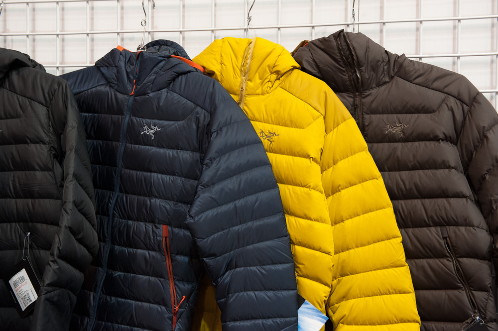 The Arc'Teryx Down Jackets.