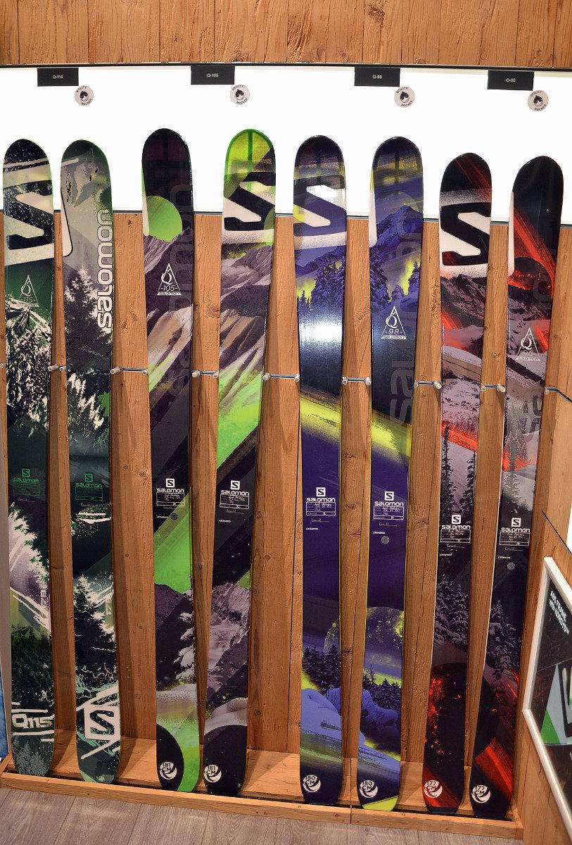 Salomon Q-Skis: All Mountain Backside Series with 5-point sidecut