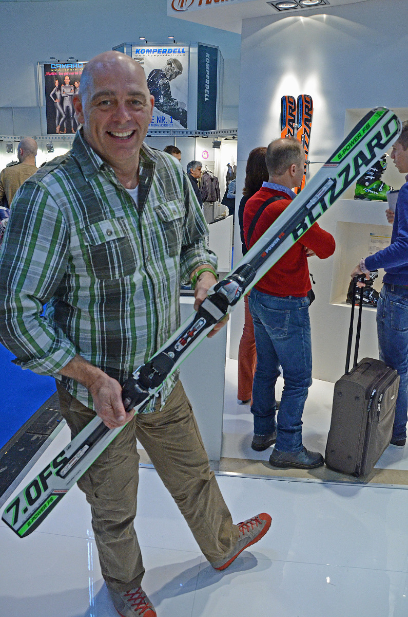 Blizzard at ISPO 2013: Tom Rakuscha presents the new 3MATRIX Technology - ©Skiinfo