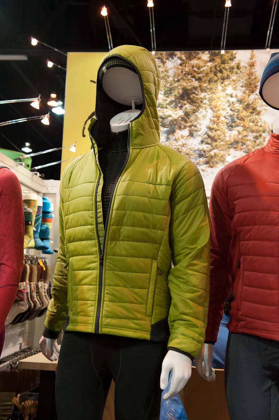 The Smartwool Smartloft Down Jacket has a built in hoody for added protection around the head. 