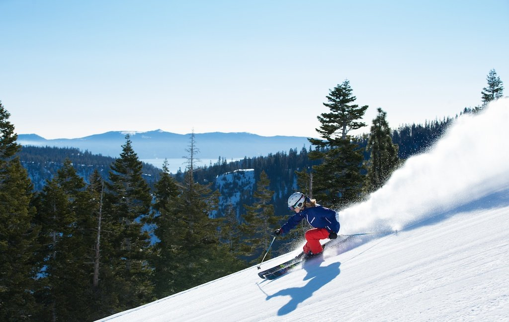 """""""There's a really great women's ski scene in Squaw. I love when I get to shred with Elyse Saugstad, Ingrid Backstrom, Michelle Parker, Jackie Passo, Lel Tone, and so many more. Squaw has the best women's scene in the country. All we need is Rachael Burks and we'd be complete."""" - Amie Engerbretson  - ©Weston Walker"""