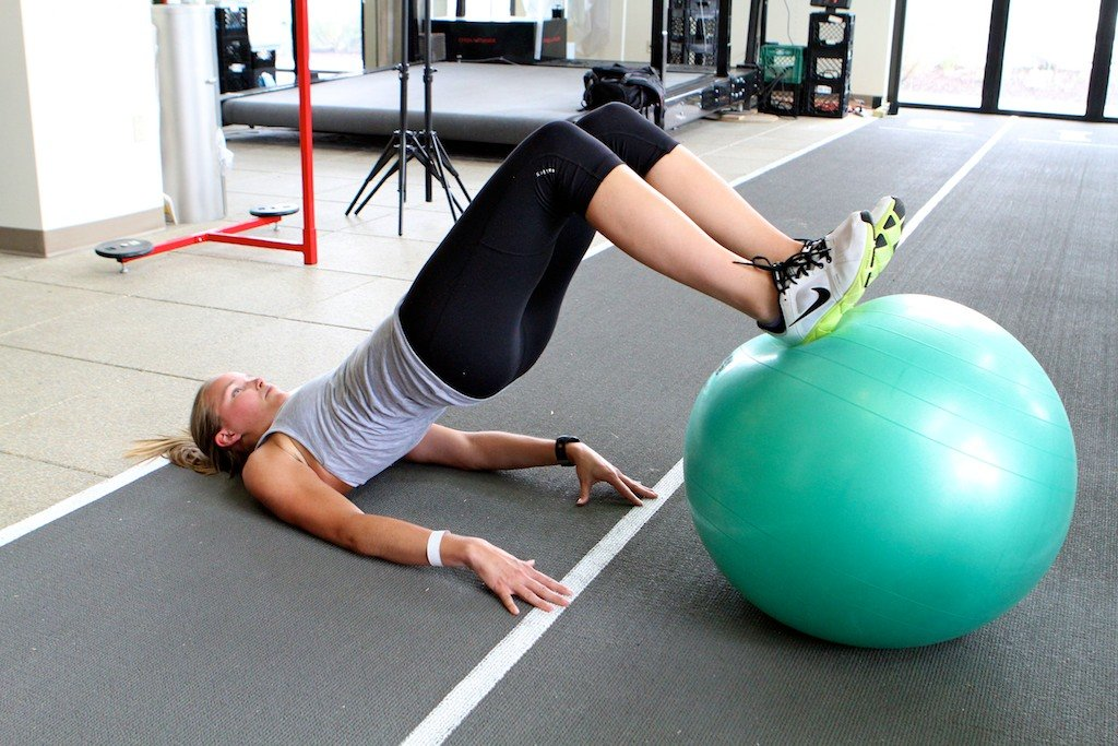 Swiss Ball Tri-fecta with Grete Eliassen.