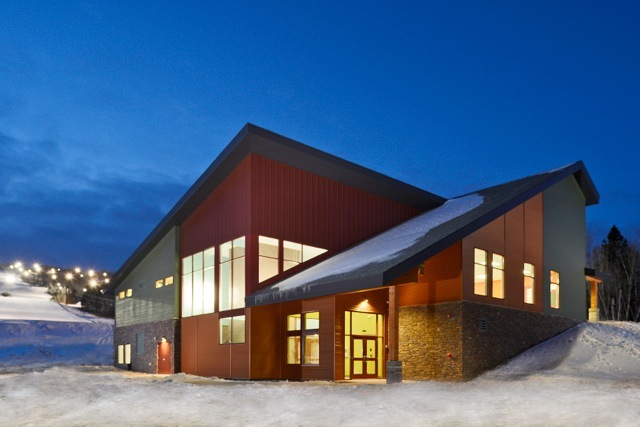 The new lodge at Spirit Mountain.