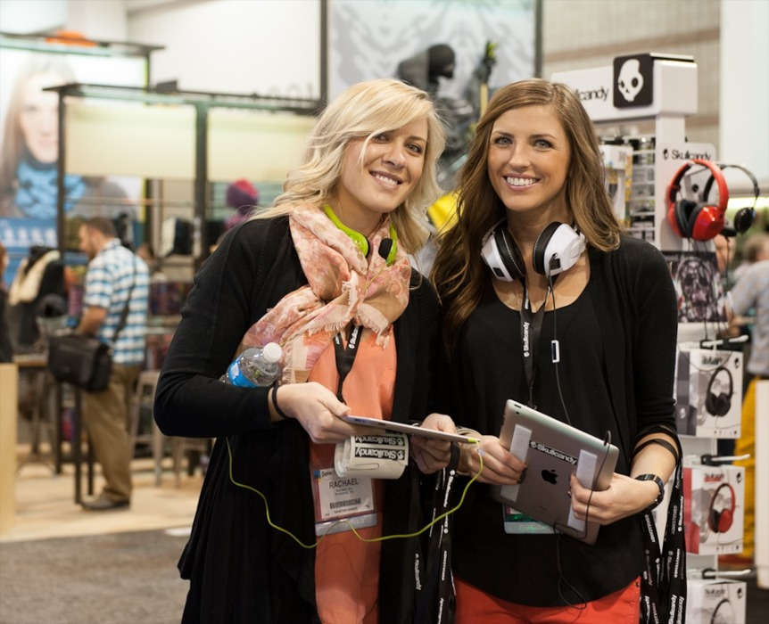 The Skullcandy girls at SIA 2013.