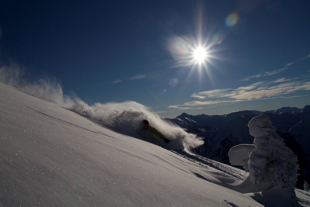 Powder at Kicking Horse. Photo by Andrew Mirabito, courtesy of Kicking Horse Mountain Resort