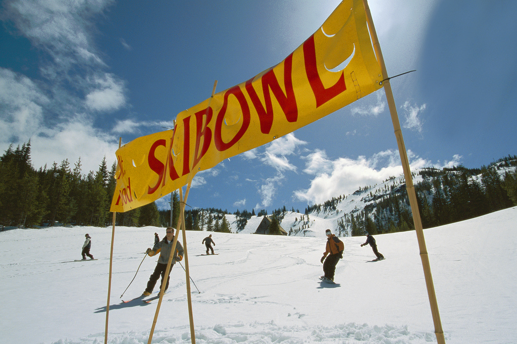 A sunny spring day at Mt. Hood Skibowl. Photo by Mt. Hood Territory.com/Flickr.