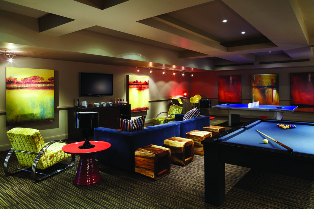 The game room at the Dancing Bear, a new kid-friendly development in Aspen, Colorado.