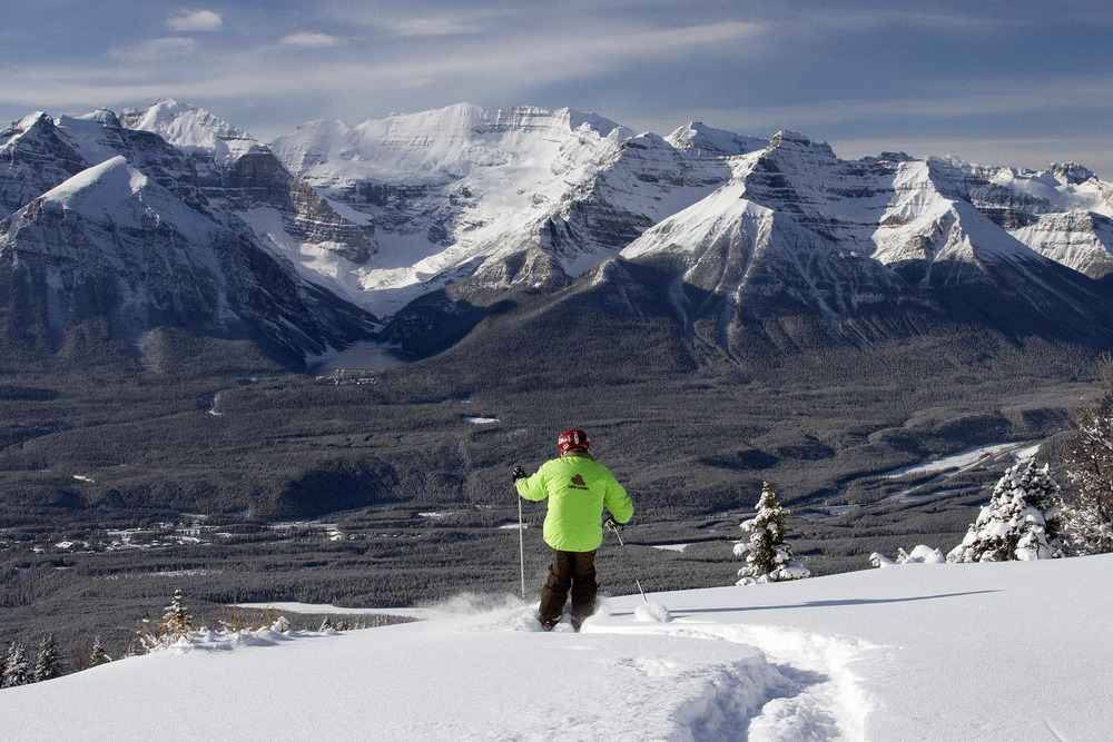 May skiing at Lake Louise