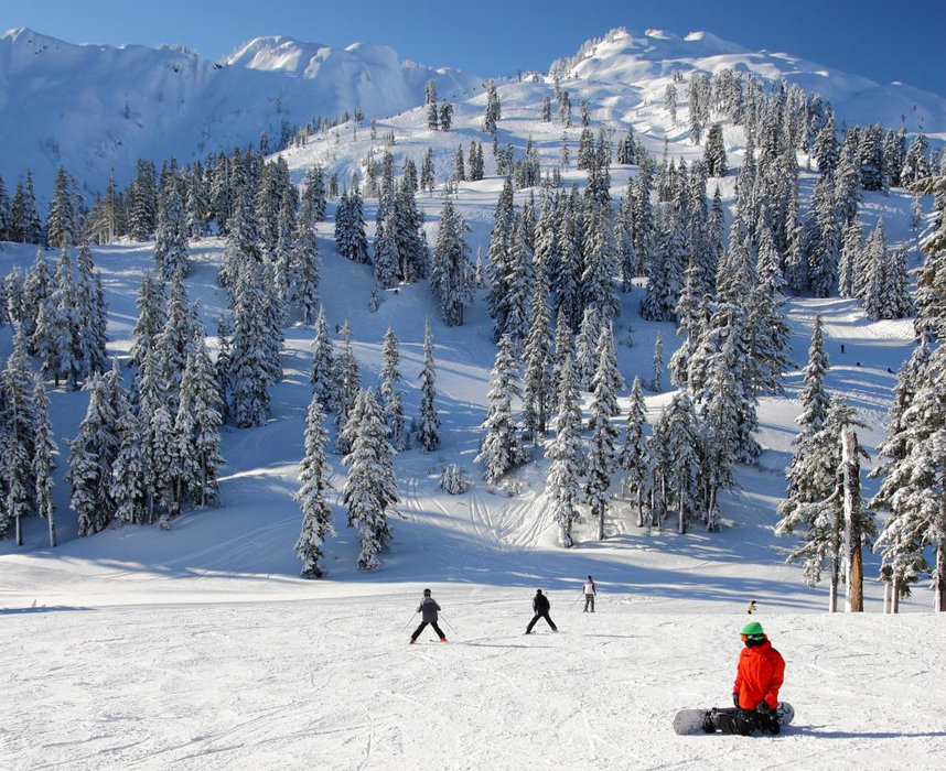 A blue sky day at Mt. Baker. Photo by Judd Hall/Flickr.