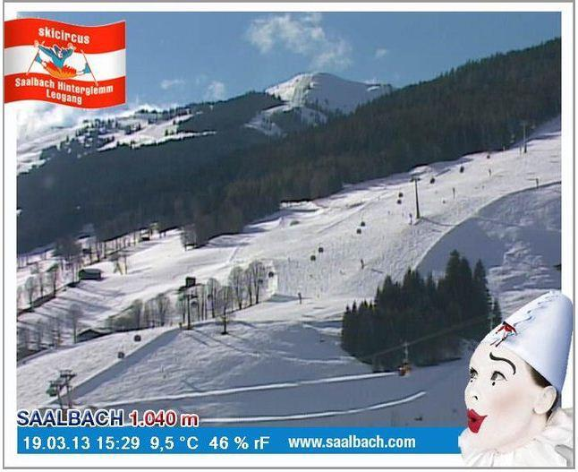 Saalbach on March 19th, 2013. The ski season in Saalbach will go on until April 14th