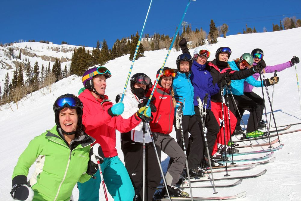 Having fun with Jackson Hole Terra Women's Camp. - ©Dina Mishev