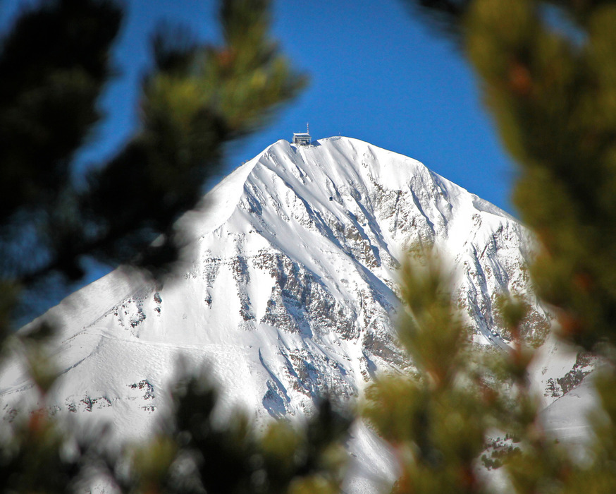 Lone Peak at Big Sky Resort. Photo by Chris Kamman, courtesy of Big Sky Resort.