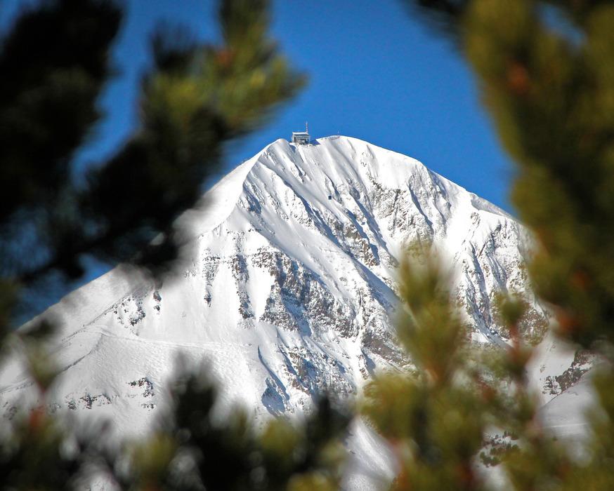 Lone Peak at Big Sky Resort. Photo by Chris Kamman, courtesy of Big Sky Resort.