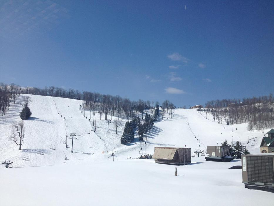 Skiing and riding will continue until April 7, 2013. Photo Courtesy of Seven Springs Resort.
