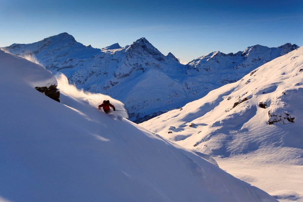 Freeriding in Monterosa Ski, Italy