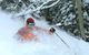 A skier finds powder at Durango Mountain Resort, Colorado