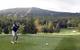 Golfer at Stratton Mountain Resort Golf Course.