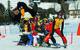 Kids with mascot and instructor at Bad Kleinkirchheim ski school