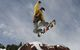 A snowboarder gets air in the terrain park in Winter Park, Colorado