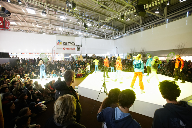 Fashion show at the ISPO Munich.