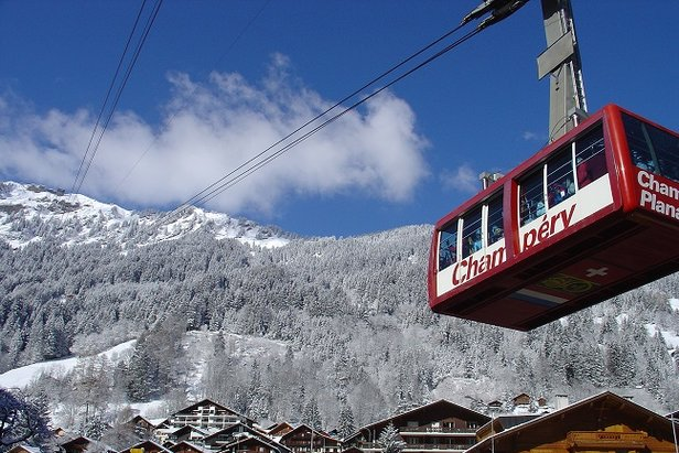 Champery, Switzerland provides quick access to the massive Portes du Soleil ski area - ©Champery Tourist Office