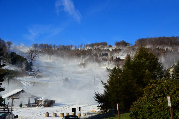 Snowmaking underway at Seven Springs Mountain Resort - ©Anna Weltz, Communications Manager