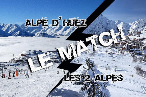 comparatif entre l'alpe d'huez et les 2 alpes