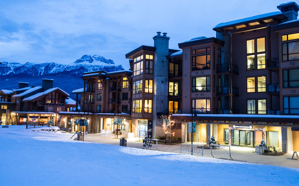 The gorgeous Sutton Place hotel sits right at the base of the Revelstoke gondola.