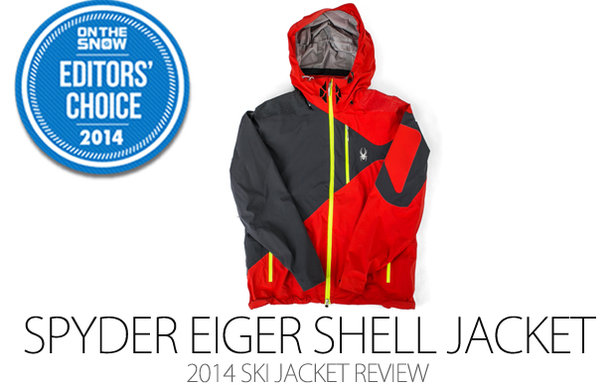 Spyder Eiger Shell Jacket, 2014 Editors Choice Men Ski Jacket