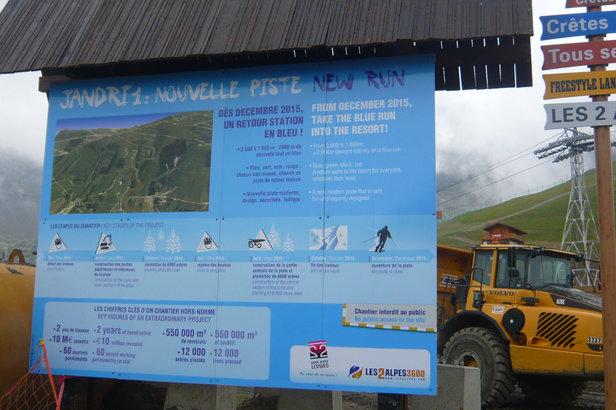 Piste bleue Jandri 1 des 2 Alpes - ©OT des 2 Alpes