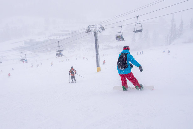 Skiers and riders enjoy opening day freshies Nov. 15, 2014 at Winter Park Resort. - ©Winter Park Resort