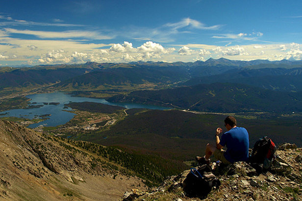 Lunch with a view. Lake Dillon set among the mountains of Summit County.  - ©Stephen Duncan