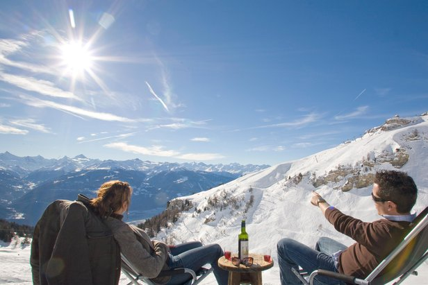 Crans-Montana, Svizzera: aperitivo in pista