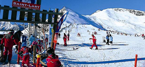 Sur les pistes de ski de Saint Lary