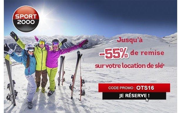 Jusqu'à -55% de remise sur votre location de ski