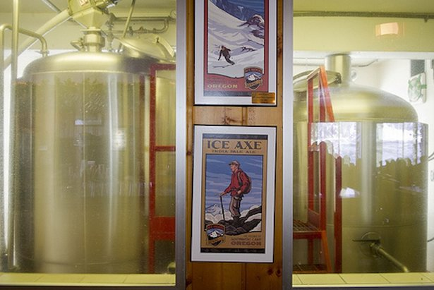 Mt. Hood Brewing Co. beer doesn't get any fresher than at the Ice Axe Grill. - ©Andrea Johnson