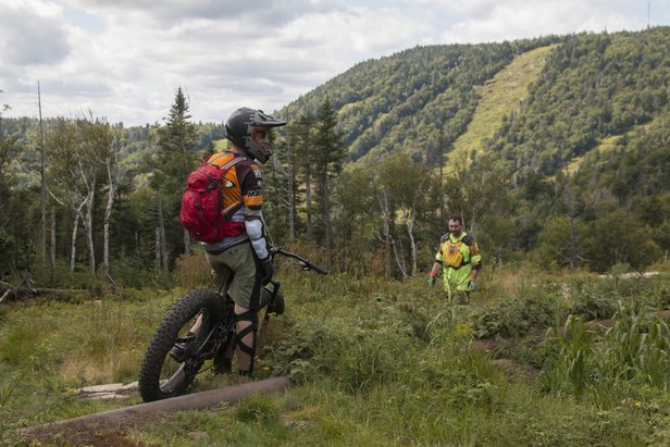 Bikers on Ruby Run - ©All-day and morning-only mountain biking camps for beginner and intermediate riders