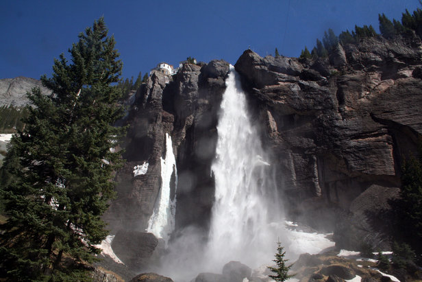 At 365 feet, Bridal Veil Falls is the tallest free falling waterfall in Colorado. - ©Terry Foote