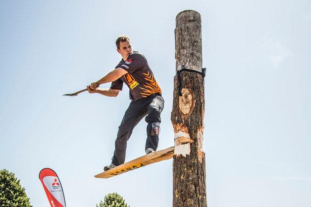 Championnat de France de bûcheronnage sportif aux Contamines - ©Stihl Timbersports