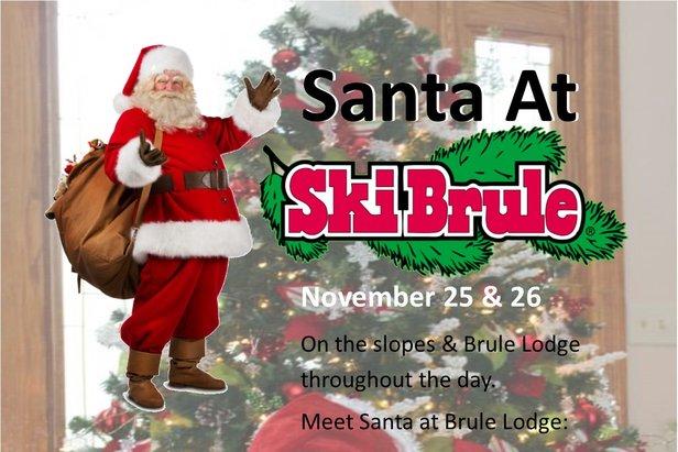 Santa Visits Ski Brule - ©Ski Brule