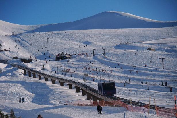 Tania train at Cairngorm Mountain, Scotland