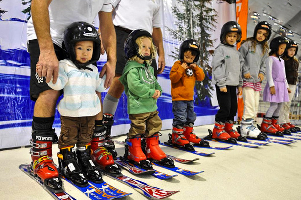 Get your kids outfitted and even some instruction at a ski show near you. Photo Courtesy of Ski Dazzle.