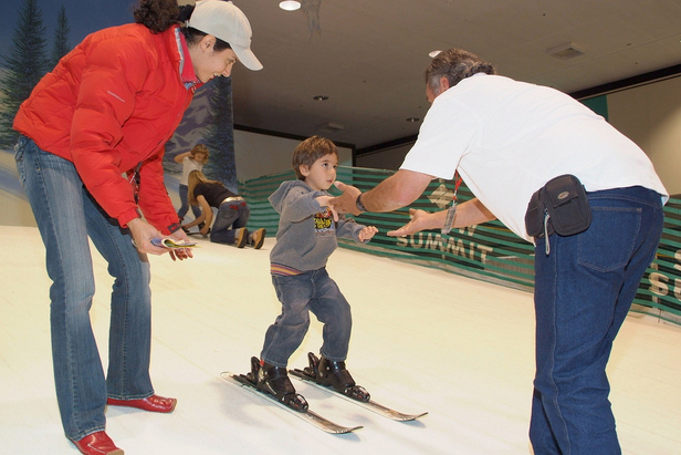 The closest thing to skiing on snow in LA can be found at Ski Dazzle. Photo Courtesy of Ski Dazzle.
