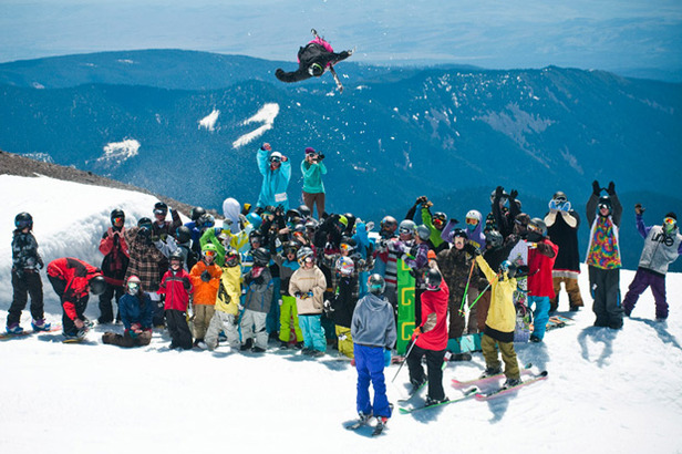 Less layers, plenty of sun and a chance to really improve—that's summer camp skiing. Photo Courtesy of Windells.