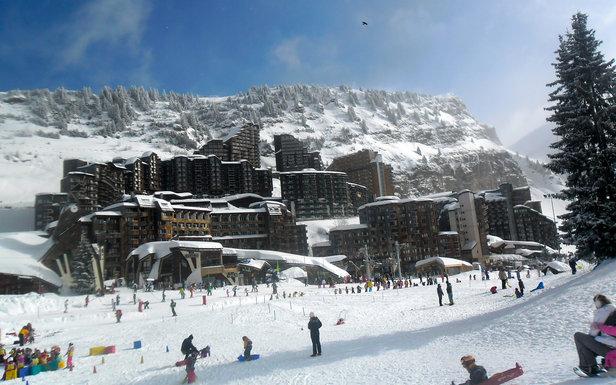 Vue sur la station d'Avoriaz depuis les pistes de ski - ©DaveOnFlickr