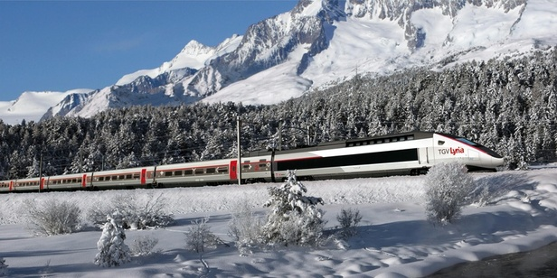 TGV Lyria from Lille to the Valais